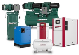 Champion Pneumatic Oil Lubricated Rotary Compressors