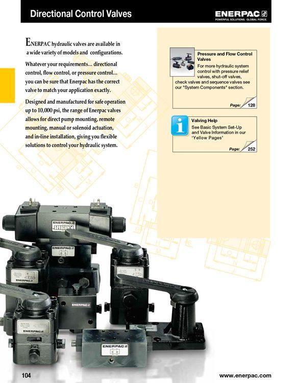 Enerpac Air Directional Control Valves Catalog