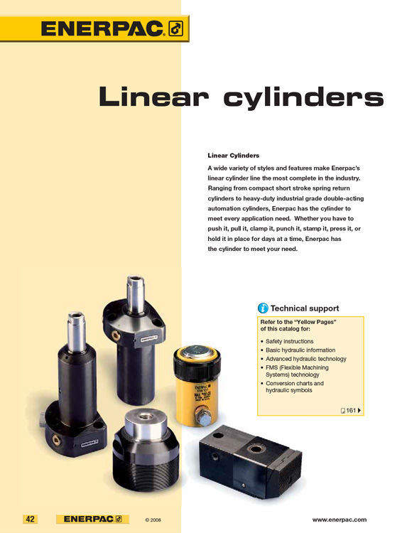 Enerpac Linear Cylinders Catalog