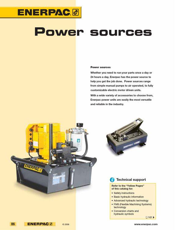 Enerpac Power Sources Catalog