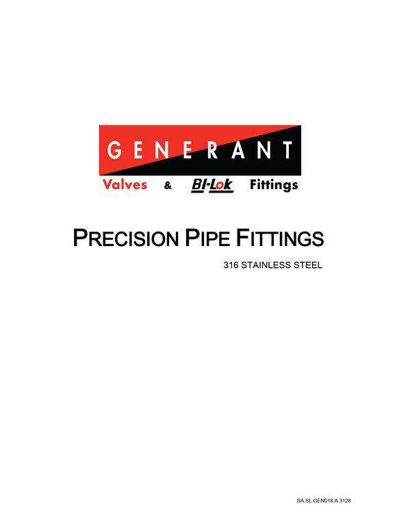 Generant Precision Pipe Fittings Catalog