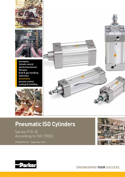 Parker-Pneumatic ISO Cylinders P1D-B Series Catalog