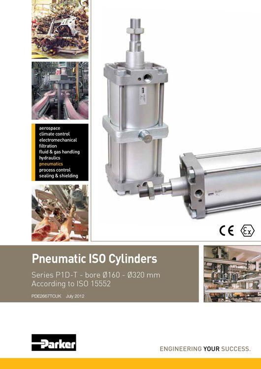 Parker-Pneumatic Cylinders P1D-T Series Catalog