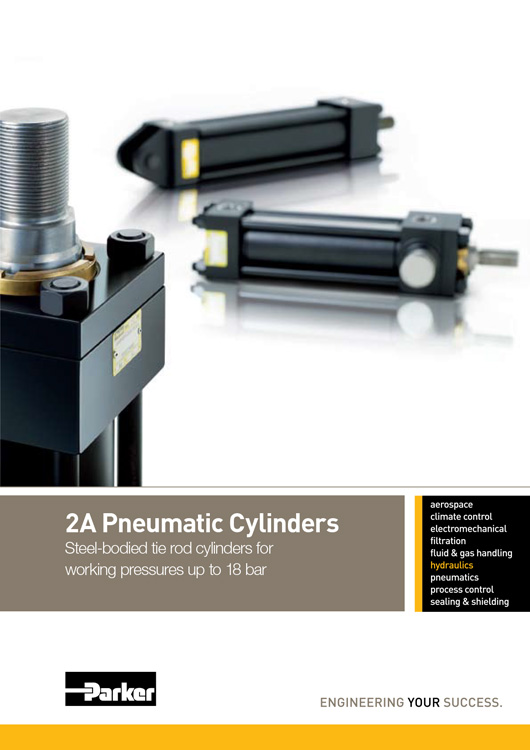 Parker-Pneumatic Cylinders Series 2A Catalog