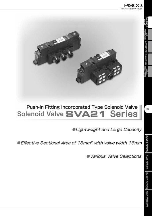 Pisco-Solenoid Valve SVA21 Catalog