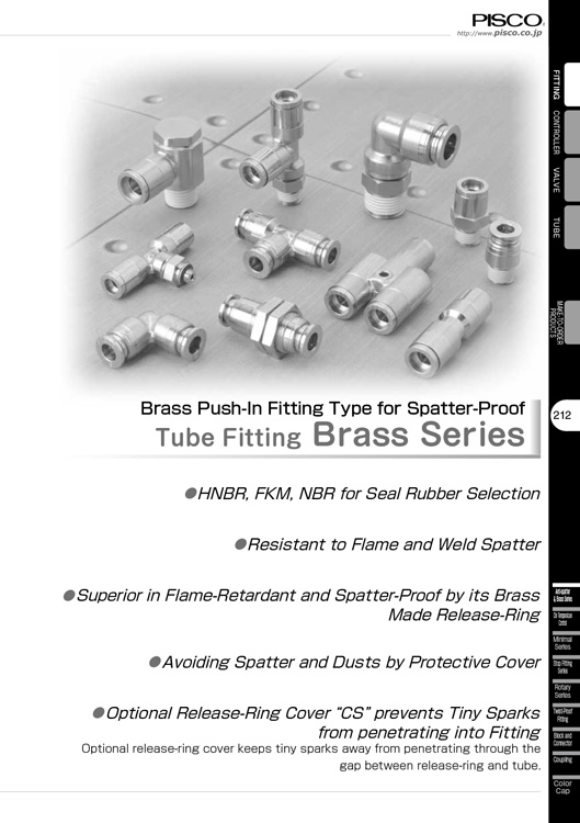 Pisco-Tube Fitting Brass Catalog