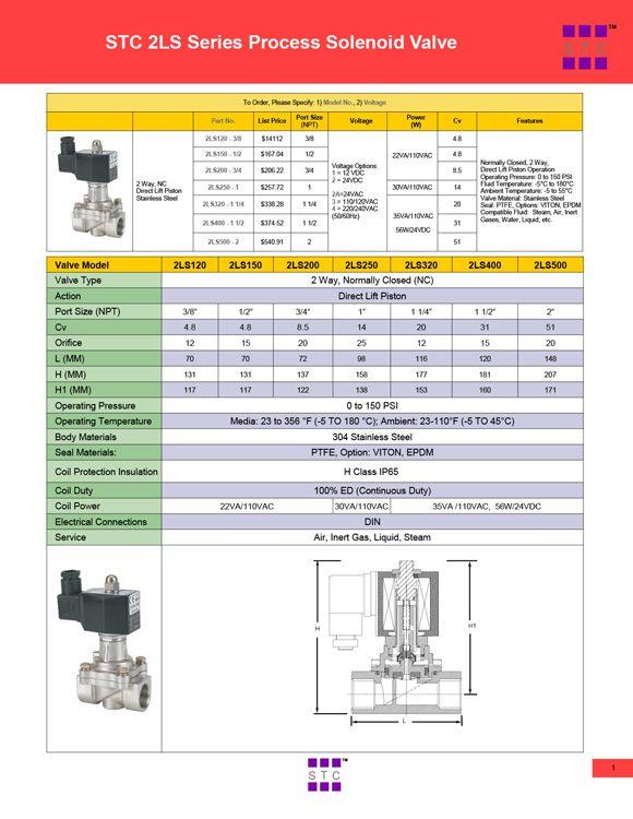 STC-2LS Series Valve Catalog