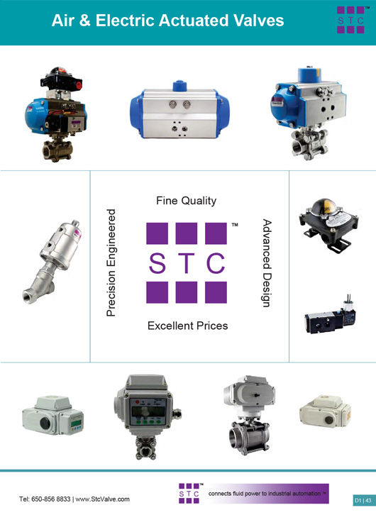 STC Air Electric Actuated Valves Catalog
