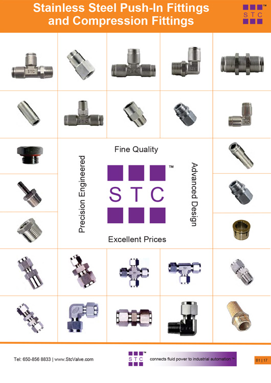 STC Stainless Steel Push In Fittings Catalog