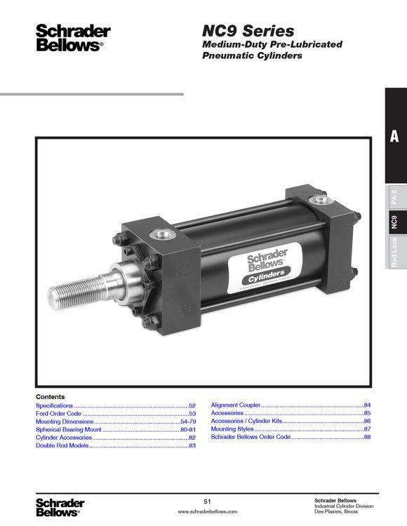 Schrader Bellows-NC9 Series Cylinders Catalog