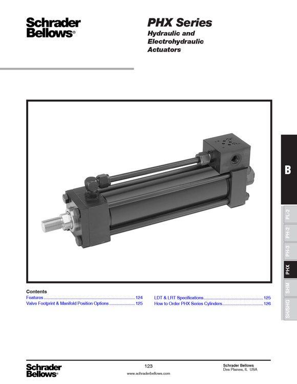 Schrader Bellows-PHX Series Cylinders Catalog