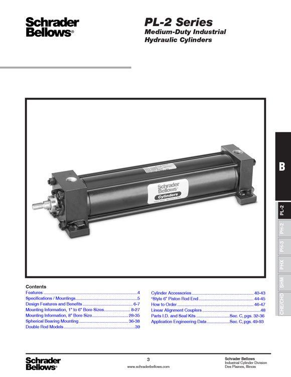Schrader Bellows-PL2 Series Cylinders Catalog