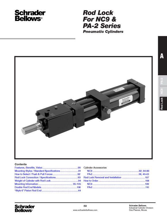 Schrader Bellows-Rod Lock Catalog
