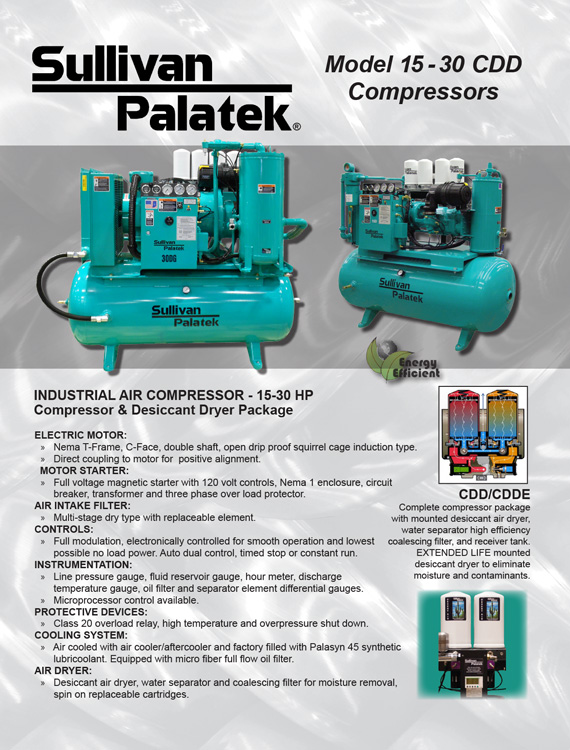 Sullivan Palatek-CDD Series Compressors Catalog