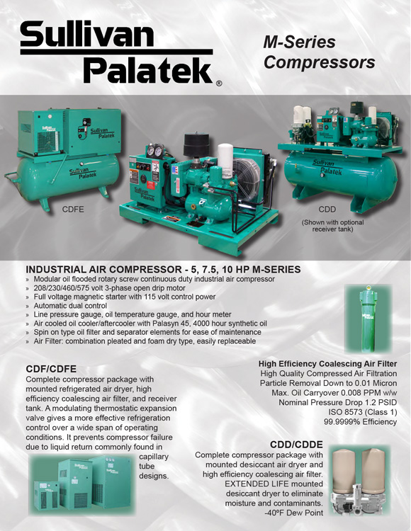 Sullivan Palatek-M Series Compressors Catalog