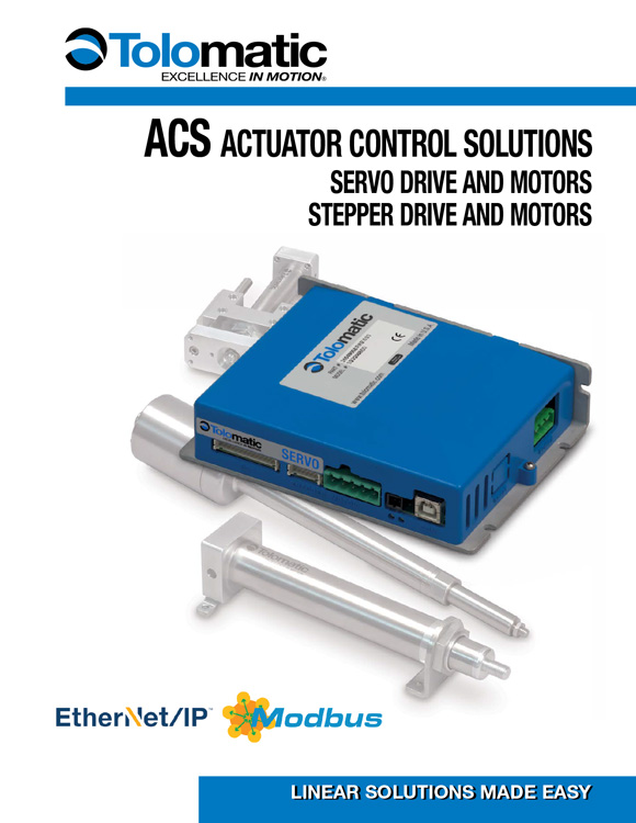 Tolomatic-ACS Actuator Control Solutions Catalog