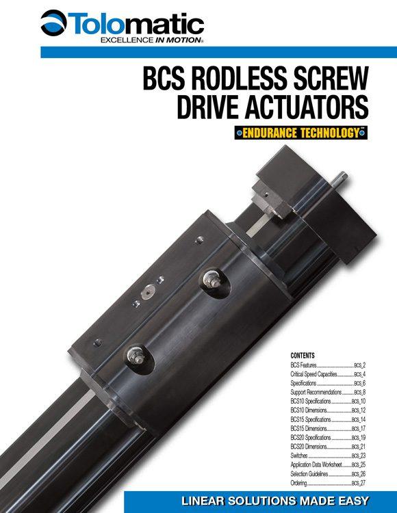 Tolomatic-BCS Rodless Screw Drive Actuator Catalog