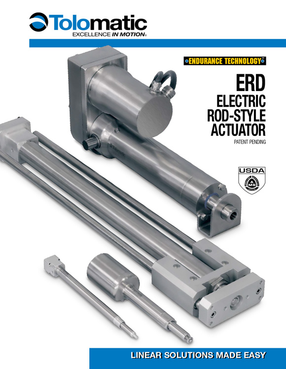 Tolomatic-ERD Electric Rod Style Actuator Catalog