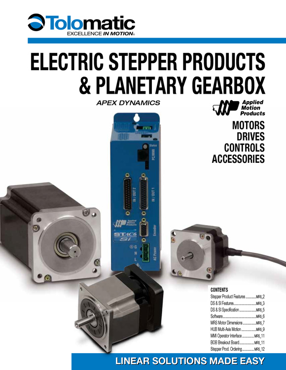 Tolomatic-Electric Stepper, Platenary Gearbox Catalog