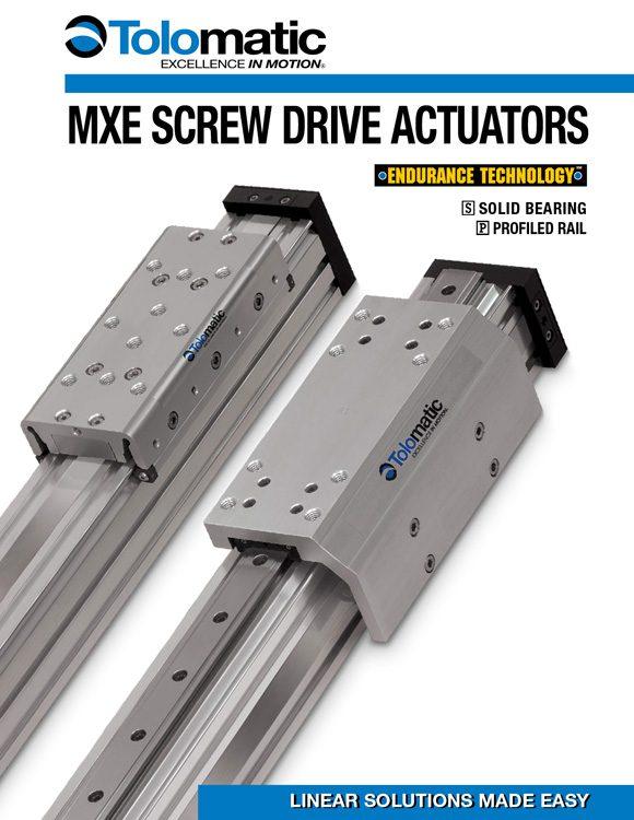 Tolomatic-MXE Screw Drive Electric Actuator Catalog