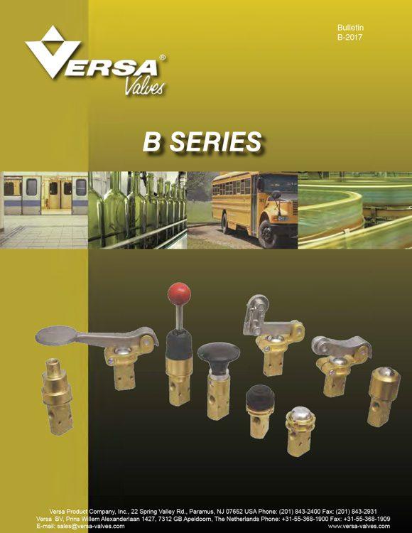 Versa-B Series Brass Valves Catalog
