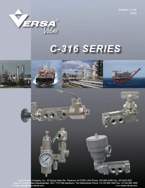 Versa-C316 Series Stainless Steel Solenoid Valves Catalog