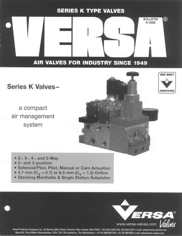 Versa-K Series Aluminum Solenoid Valves Catalog