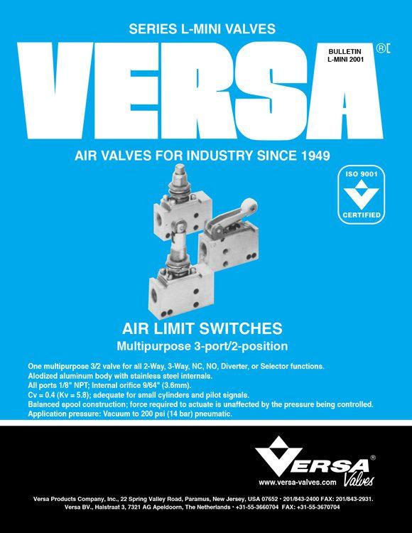 Versa-L Series Aluminum Limit Switch Valves Catalog