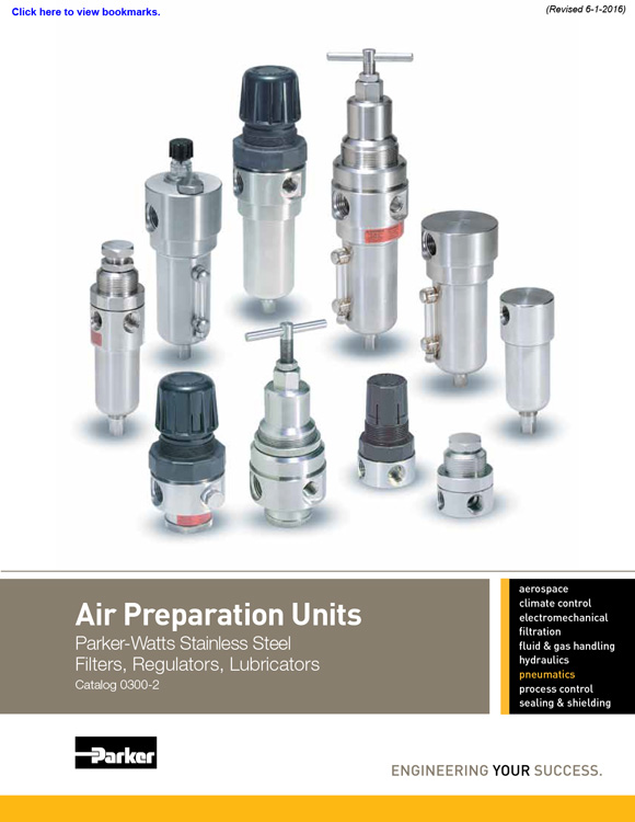 Watts-Stainless Steel Air Preparation Units Catalog