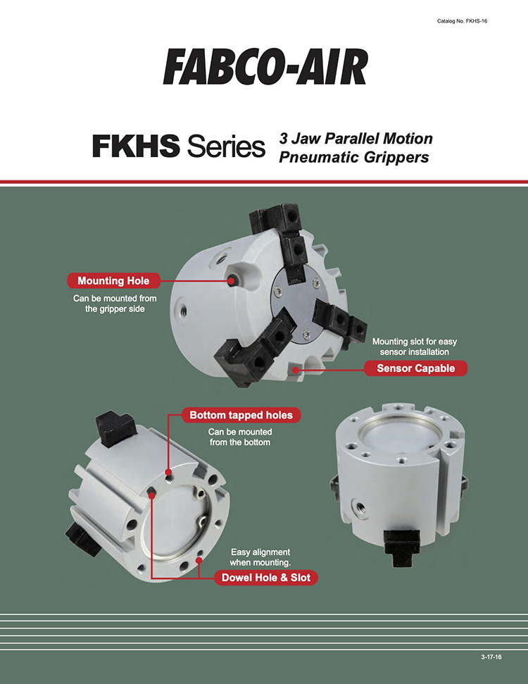 Fabco-FKHS Series Grippers Catalog