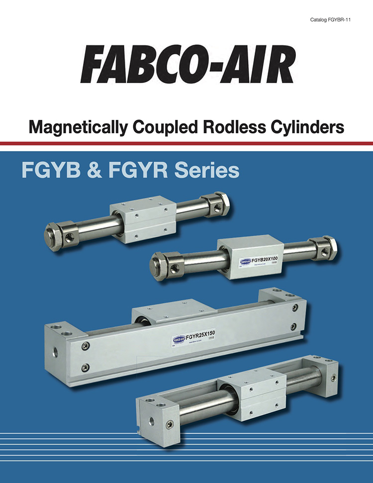 Fabco-Magnetically Coupled Rodless Cylinders Catalog