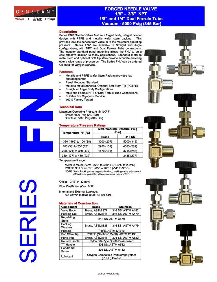 Generant-Series FNV Catalog