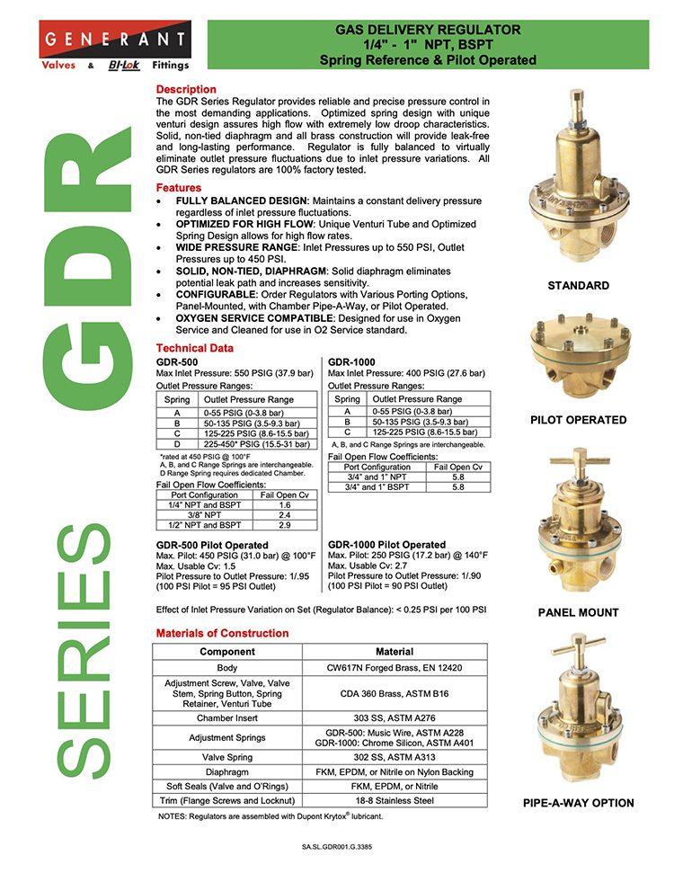 Generant-Series GDR Catalog