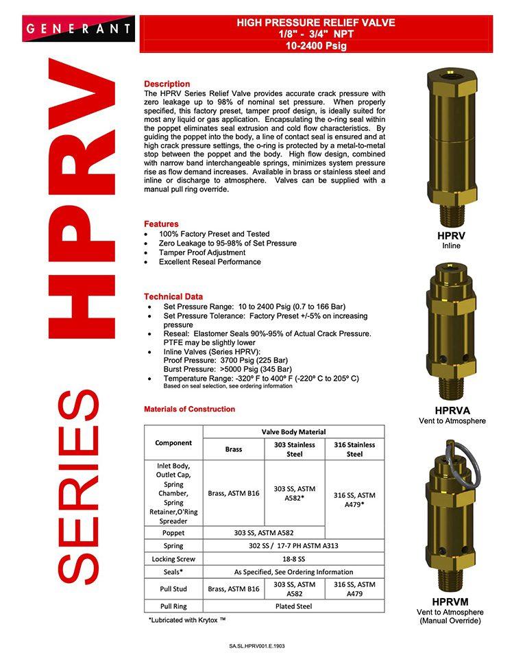 Generant-Series HPRV Catalog