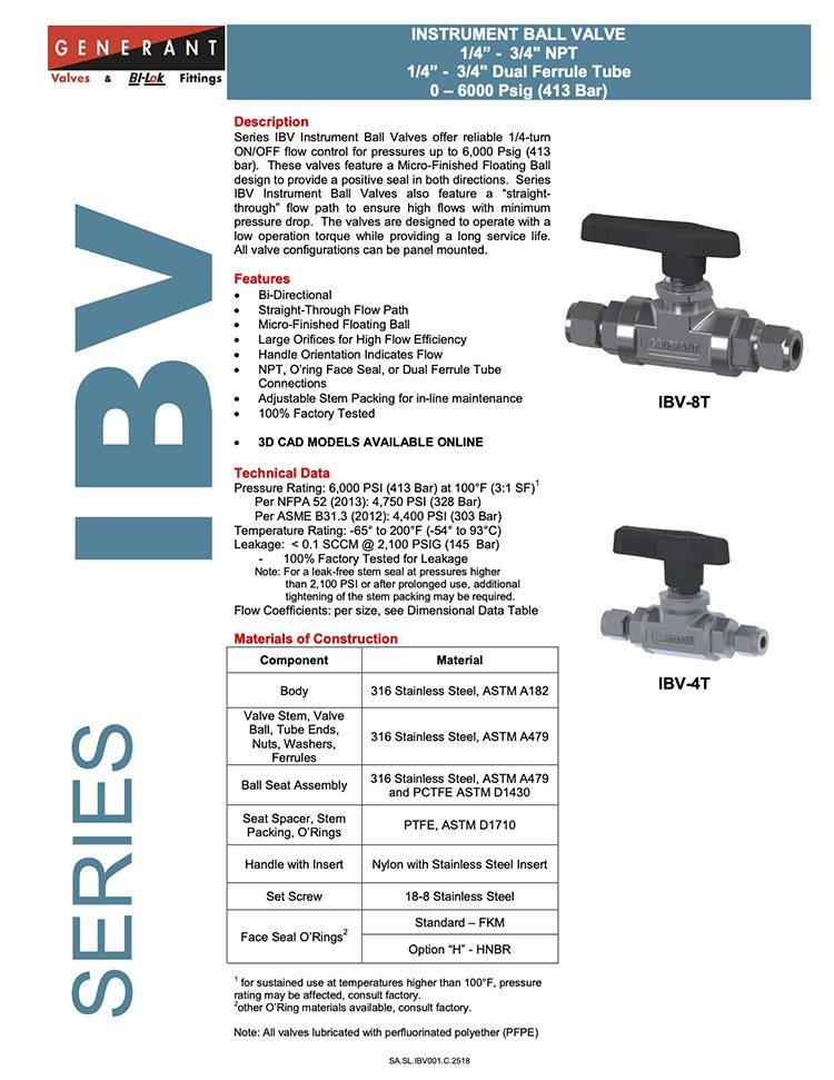 Generant-Series IBV Catalog
