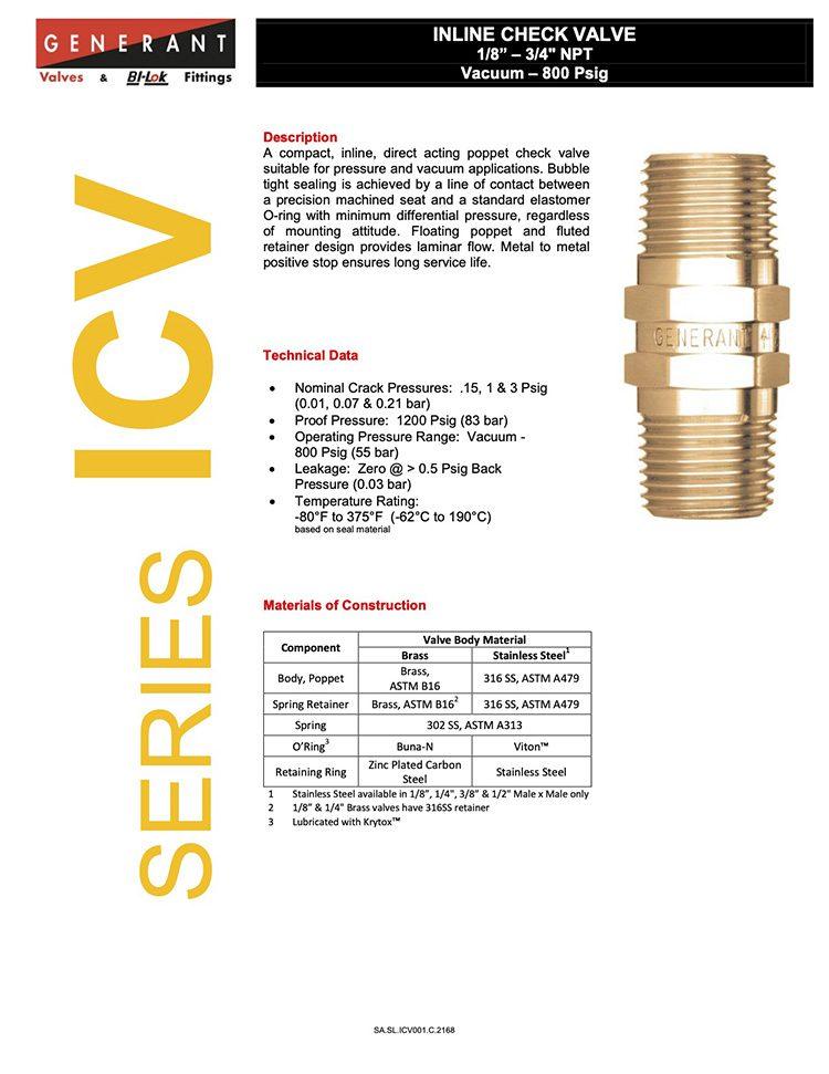 Generant-Series ICV Catalog