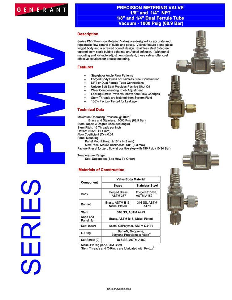 Generant-Series PMV Catalog