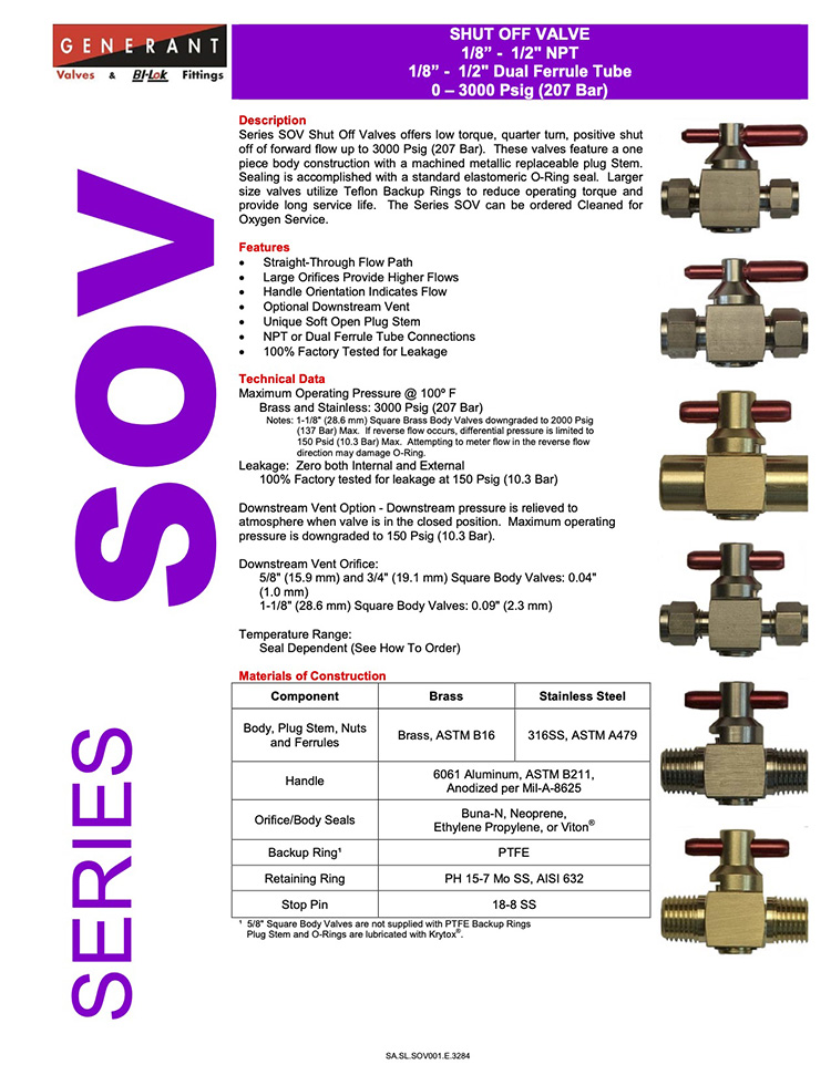 Generant-Series SOV Catalog