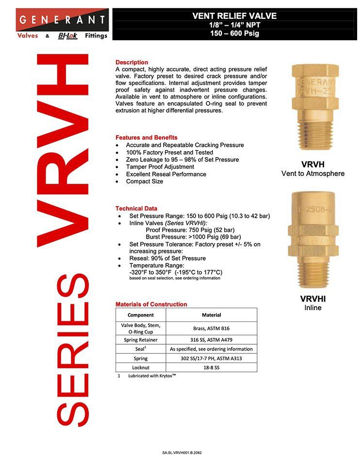 Generant-Series VRVH Catalog