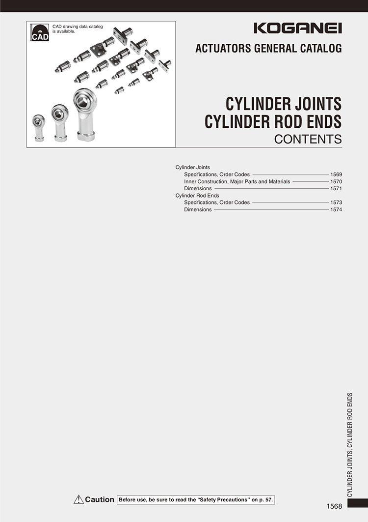 Koganei-Cylinder Joints, Cylinder Rod Ends Catalog