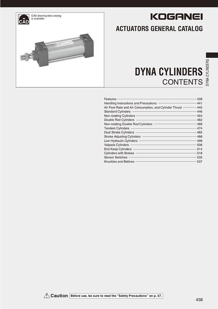 Koganei-Dyna Cylinders Catalog