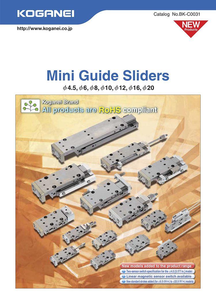 Koganei-Mini Guide Sliders Catalog
