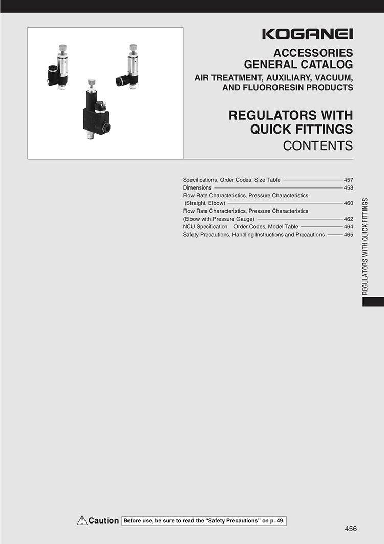 Regulators With Quick Fittings Catalog