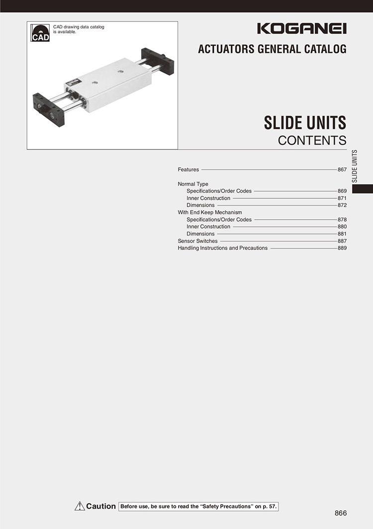 Koganei-Slide Units Catalog