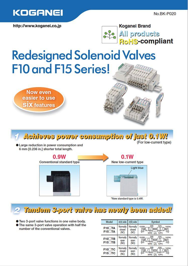 Koganei-Solendoid Valves-F10, F15 Series-1 Catalog