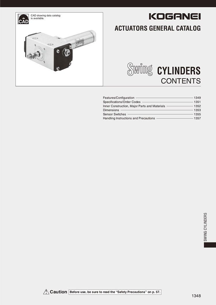 Koganei-Swing Cylinders Catalog