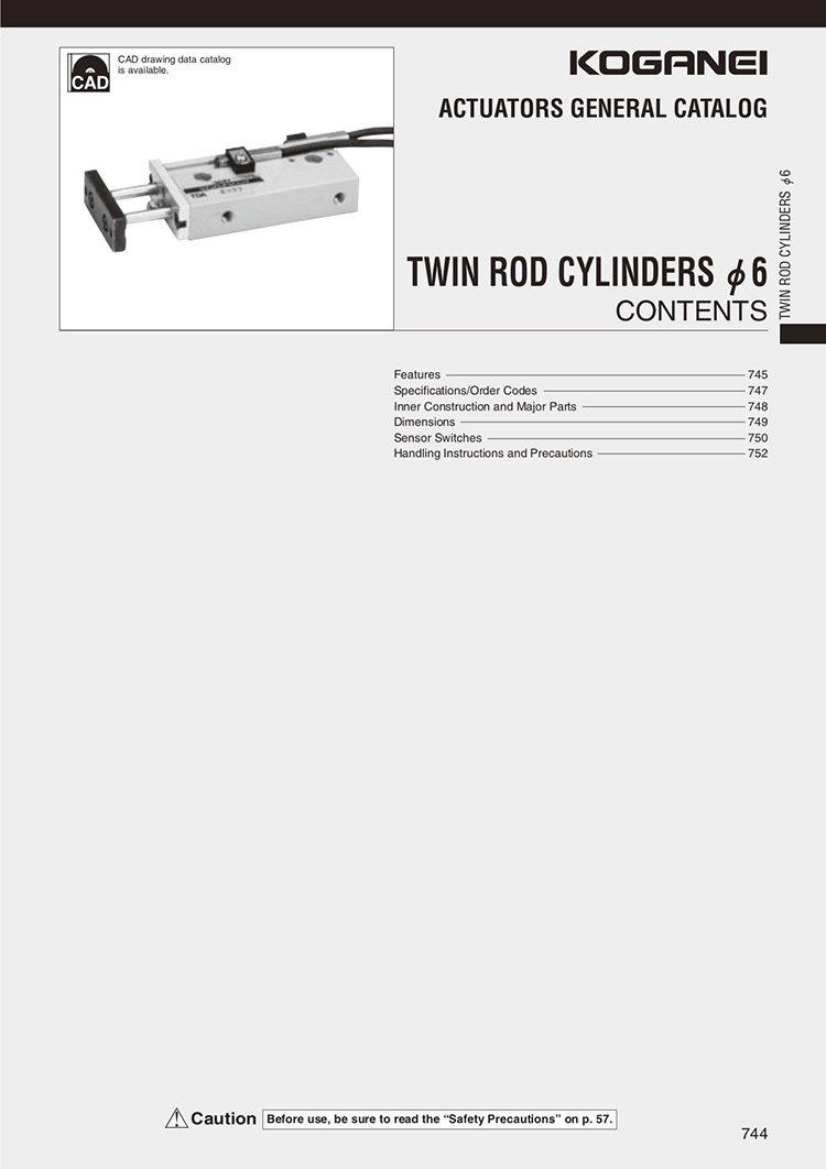 Koganei-Twin Rod Series 6 Catalog