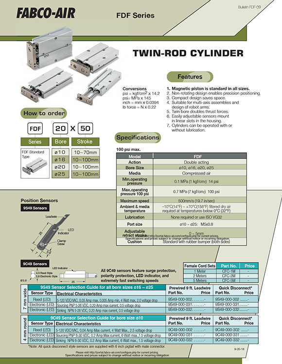 Fabco-FDF Series Cylinder Catalog