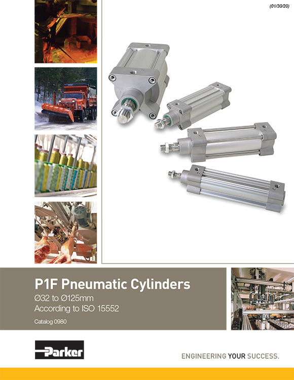 Parker-Pneumatic Cylinders P1F Series Catalog